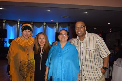 Safiyya with friends and celebrity photographer Ronnie Wright
