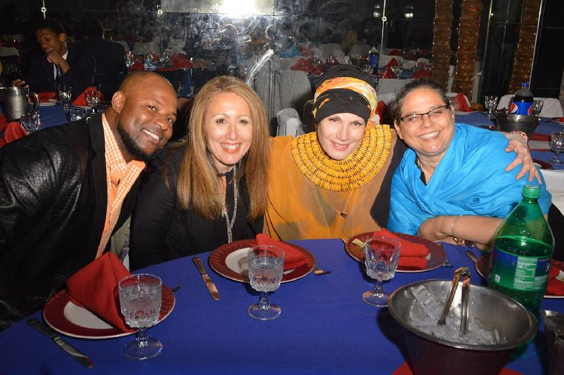 Safiyya and friends at the Haitian Heritage Awards on May 24, 2015
